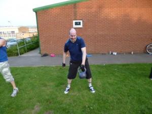 Bristol Kettlebell club member Dave Thompson