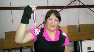 Annie Smith - 2nd place at Bristol kettlebells club strongest women contest