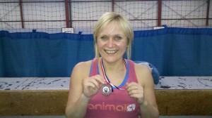 Julie Haydon - 3rd place at Bristol Kettlebells club strongest women contest