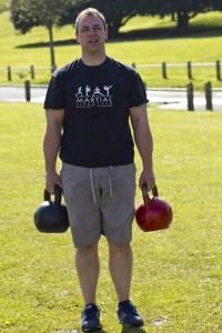 Paul Doddrell - 2 x 32kg kettlebells farmers walks
