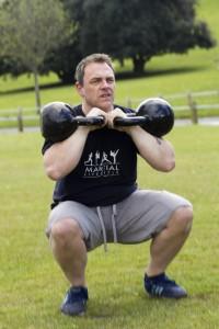 Paul - 2 x 24kg Kettlebell front squat